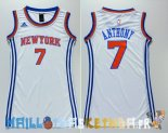 Maillot NBA Femme New York Knicks NO.7 Carmelo Anthony Blanc Pas Cher