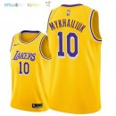 Maillot NBA Los Angeles Lakers NO.10 Season Sviatoslav Mykhailiuk Jaune Icon 2018-2019 Pas Cher