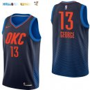 Maillot NBA Enfant Oklahoma City Thunder NO.13 Paul George Marine Statement Pas Cher