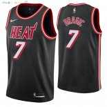Maillot NBA Miami Heat NO.7 Goran Dragic Retro Noir 2018 Pas Cher