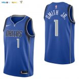 Maillot NBA Dallas Mavericks NO.1 Dennis Smith Jr Bleu Icon 2017-2018 Pas Cher