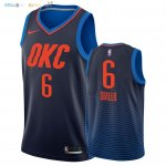 Maillot NBA Oklahoma City Thunder NO.6 Hamidou Diallo Marine Statement 2018 Pas Cher