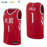 Maillot NBA Houston Rockets NO.1 Trevor Ariza Nike Rouge Ville 2017-2018 Pas Cher