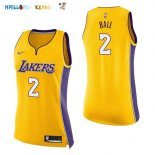Maillot NBA Femme Los Angeles Lakers NO.2 Lonzo Ball Jaune Icon Pas Cher