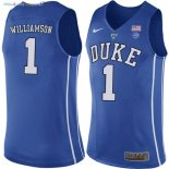 Maillot NCAA Duke NO.1 Zion Williamson Bleu Pas Cher