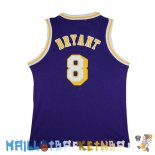 Maillot NBA L.A.Lakers NO.8 Kobe Bryant Purpura Pas Cher