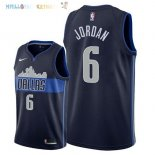 Maillot NBA Dallas Mavericks NO.6 DeAndre Jordan Noir Statement 2018 Pas Cher