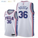 Maillot NBA Philadelphia Sixers NO.36 Jonah Bolden Blanc Association 2018 Pas Cher