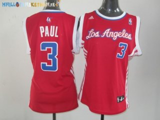 Maillot NBA Femme Los Angeles Clippers NO.3 Chris Paul Rouge Pas Cher
