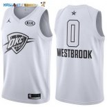 Maillot NBA 2018 All Star NO.0 Russell Westbrook Blanc Pas Cher