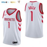Maillot NBA Houston Rockets NO.1 Trevor Ariza Blanc Association 2017-2018 Pas Cher