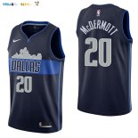 Maillot NBA Dallas Mavericks NO.20 Doug McDermott Noir Statement 2017-2018 Pas Cher