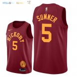 Maillot NBA Indiana Pacers NO.5 Edmond Sumner Nike Retro Bordeaux 2018-2019 Pas Cher