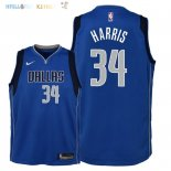 Maillot NBA Enfant Dallas Mavericks NO.34 Devin Harris Bleu Icon 2018 Pas Cher