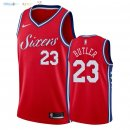 Maillot NBA Philadelphia Sixers NO.23 Jimmy Butler Rouge Statement 2018 Pas Cher