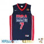 Maillot NBA 1992 USA Bird NO.7 Noir Pas Cher