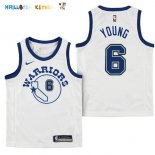 Maillot NBA Enfant Golden State Warriors NO.6 Nick Young Blanc Association Pas Cher