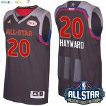Maillot NBA 2017 All Star NO.20 Gordon Hayward Charbon Pas Cher