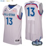 Maillot NBA 2017 All Star NO.13 Paul George Gray Pas Cher