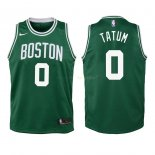 Maillot Enfant Boston Celtics NO.0 Jayson Tatum Vert Icon 2018-19 Pas Cher