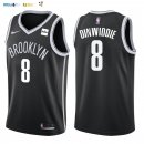Maillot NBA Brooklyn Nets NO.8 Spencer Dinwiddie Noir 2017-2018 Pas Cher