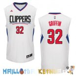 Maillot NBA L.A.Clippers NO.32 Blake Griffin Blanc Pas Cher