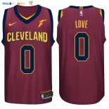 Maillot NBA Cleveland Cavaliers NO.0 Kevin Love Rouge 2017-2018 Pas Cher