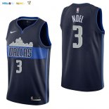 Maillot NBA Dallas Mavericks NO.3 Nerlens Noel Noir Statement Pas Cher