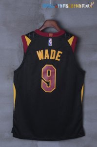 Maillot NBA Cleveland Cavaliers Nike NO.9 Dwyane Wade Noir Pas Cher