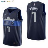 Maillot NBA Dallas Mavericks NO.7 Dwight Powell Noir Statement 2017-2018 Pas Cher