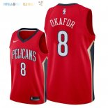 Maillot NBA New Orleans Pelicans NO.8 Jahlil Okafor Rouge Statement 2018 Pas Cher