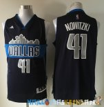 Maillot NBA Dallas Mavericks NO.41 Dirk Nowitzki Noir Pas Cher
