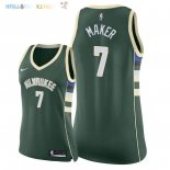 Maillot NBA Femme Milwaukee Bucks NO.7 Thon Maker Vert Icon 2018 Pas Cher