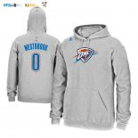 Hoodies NBA Oklahoma City Thunder NO.0 Russell Westbrook Gris Pas Cher