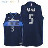 Maillot NBA Enfant Dallas Mavericks NO.5 J.J. Barea Noir Statement 2018 Pas Cher