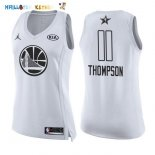 Maillot NBA Femme 2018 All Star NO.11 Klay Thompson Blanc Pas Cher