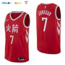 Maillot NBA Houston Rockets NO.7 Joe Johnson Nike Rouge Ville 2017-2018 Pas Cher