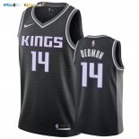 Maillot NBA Nike Sacramento Kings NO.14 Dewayne Dedmon Noir Statement 2019-20