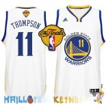 Maillot NBA Golden State Warriors Finales NO.11 Thompson Blanc Pas Cher