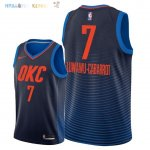 Maillot NBA Oklahoma City Thunder NO.7 Timothe Luwawu Cabarrot Marine Statement 2018 Pas Cher