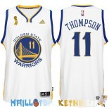 Maillot NBA Golden State Warriors 2015 Finales Champions NO.11 Thompson Blanc Pas Cher