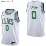 Maillot NBA Boston Celtics NO.0 Jayson Tatum Blanc Association 2017-2018 Pas Cher