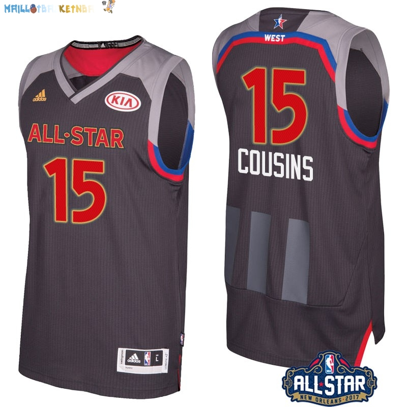 Maillot NBA 2017 All Star NO.15 Demarcus Cousins Charbon Pas Cher