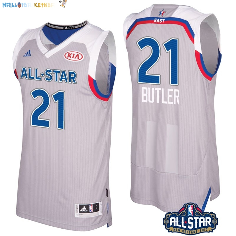 Maillot NBA 2017 All Star NO.21 Jimmy Butler Gray Pas Cher