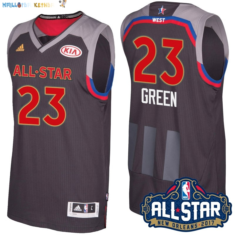 Maillot NBA 2017 All Star NO.23 Draymond Green Charbon Pas Cher