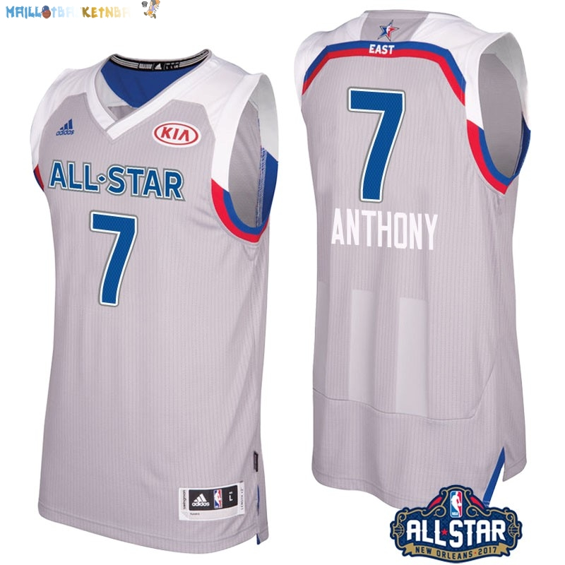 Maillot NBA 2017 All Star NO.7 Carmelo Anthony Gray Pas Cher