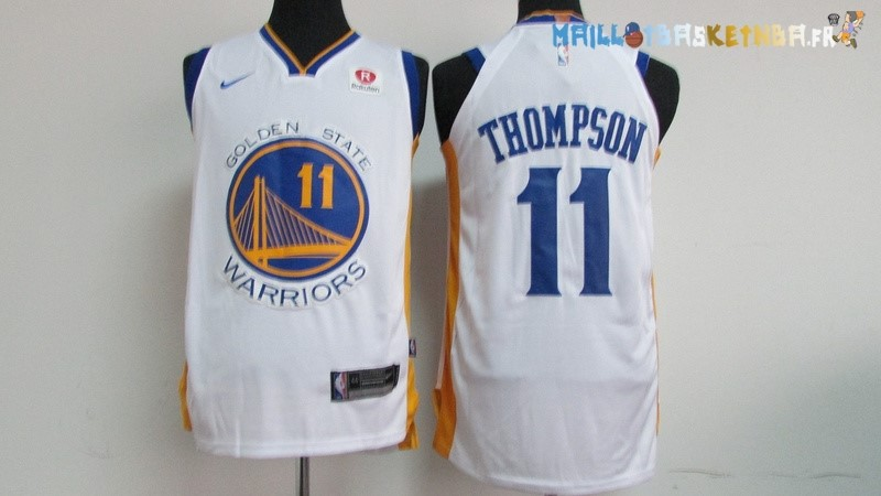 Maillot NBA Golden State Warriors Nike NO.11 Klay Thompson Blanc Pas Cher