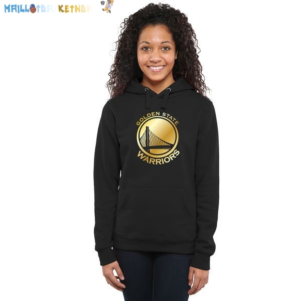 Hoodies Femme NBA Golden State Warriors Noir Or Pas Cher