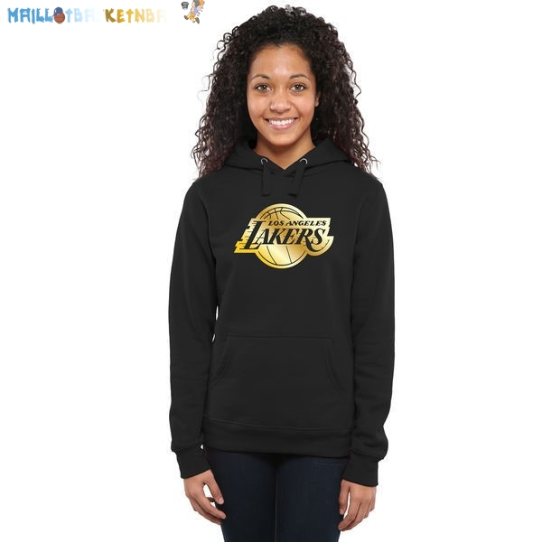 Hoodies Femme NBA Los Angeles Lakers Noir Or Pas Cher