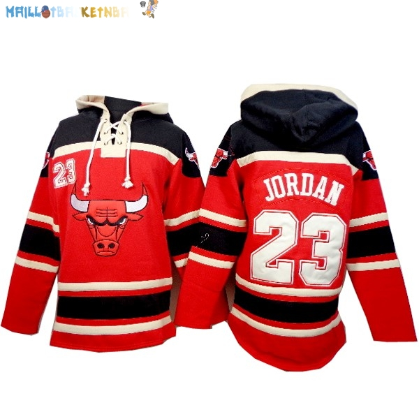 Hoodies NBA Chicago Bulls NO.23 Jordan Rouge Pas Cher